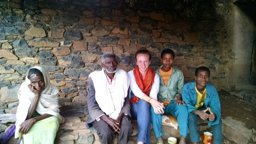 Students in Ethiopia walk many kilometers to attend school. Ally accompanied one of her 9th grade students to her home, a two-hour walk from school, to meet her family and share a meal.