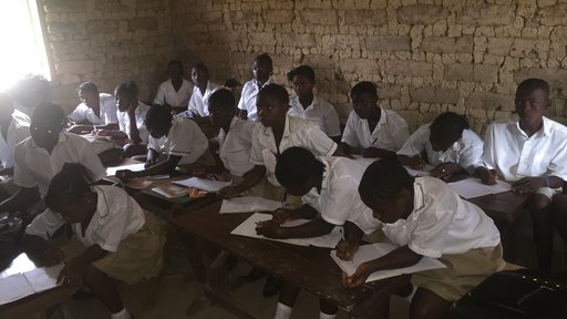 8th grade students in Sierra Leone