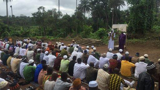 My village in Sierra Leone on the last day of Ramadan.