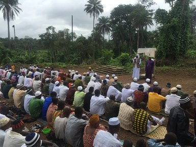My village in Sierra Leone on the last day of Ramadan.