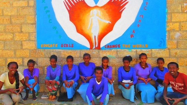 Volunteer Adrienne Hall promoted girls' empowerment in Ethiopia.
