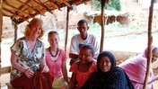Jenn Clowers and Jane Moore visit a women's artisan co-op in Niger.