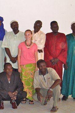 Jenn Clowers with the National Museum of Niger Artisan Co-operative