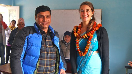 Rachel with her government counterpart, Jhabindra Neupane.