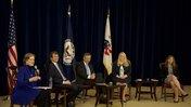 Peace Corps Director Jody Olsen spoke with returned volunteers at the State Department.jpg