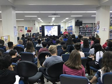 Keli shared her Peace Corps experience at two schools in Okinawa, Japan.