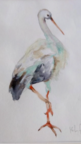 Kelsi painted this stork for Cate