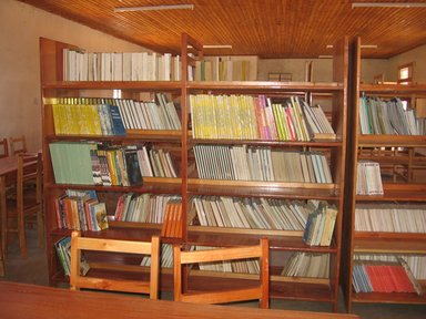 Library full of books in Tanzania