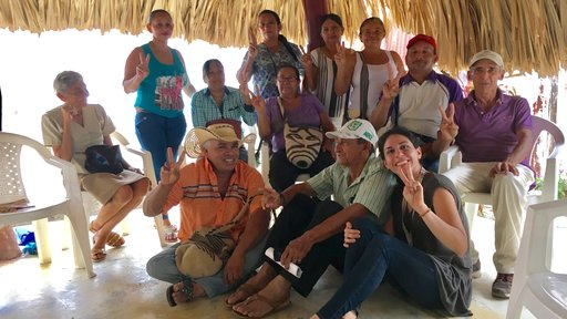 Local artisan workers and farmers who meet once a month to receive entrepreneurship courses.