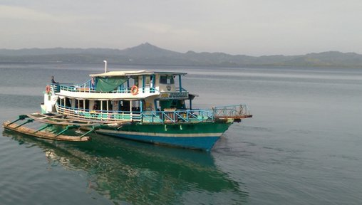 Boat travel is common throughout the Philippines, and is the only means of transportation to and from Morgan's site.
