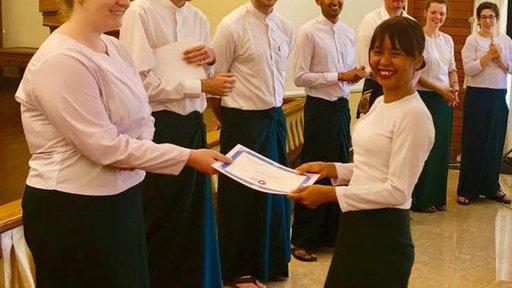 MM2 Volunteer Rachel with her counterparts