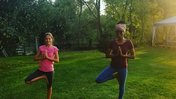 Yoga with host sister