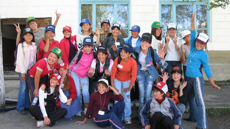 Mahima's students during a weeklong Girls Empowerment Camp that she helped organize in Kyrgyzstan.
