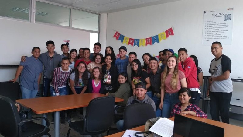My English class at the Technical Institute in Pabellón de Arteaga in Mexico.