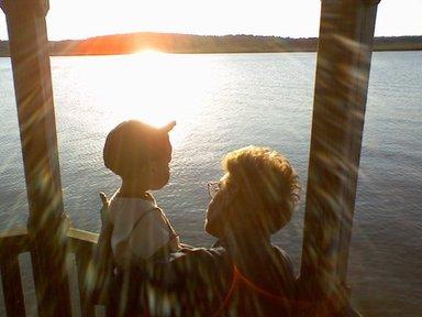 Bettie and grandson Brevin