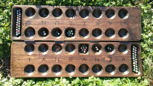 Bao is a mancala game played in East Africa.
