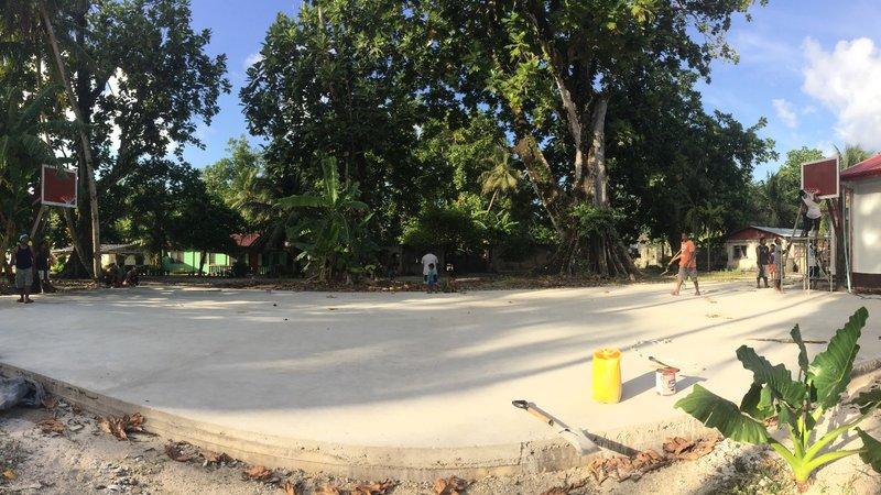 Building basketball court