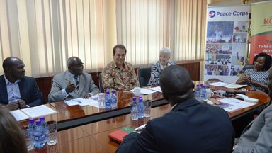 A Group of KCCA and U.S. Mission officials at KCCA offices in Kampala