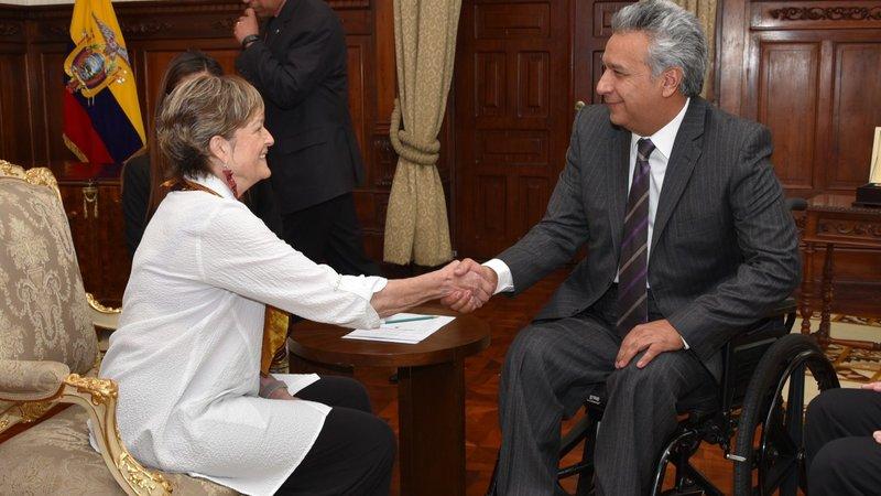 Director Olsen meets Ecuador President Lenin Moreno