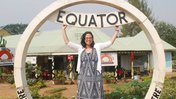 Elyse crossing the equator for the first time during her service with Peace Corps Uganda.
