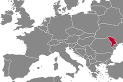 Moldova Country Map