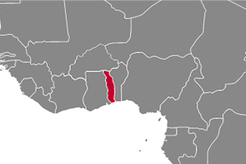 Togo Country Map