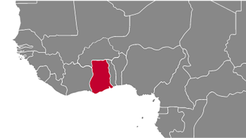 Ghana Country Map