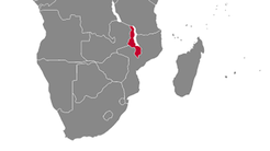 Malawi Country Map