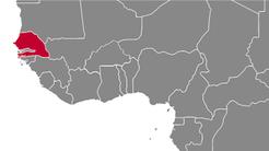Senegal Country Map