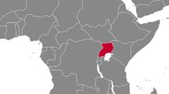 Uganda Country Map
