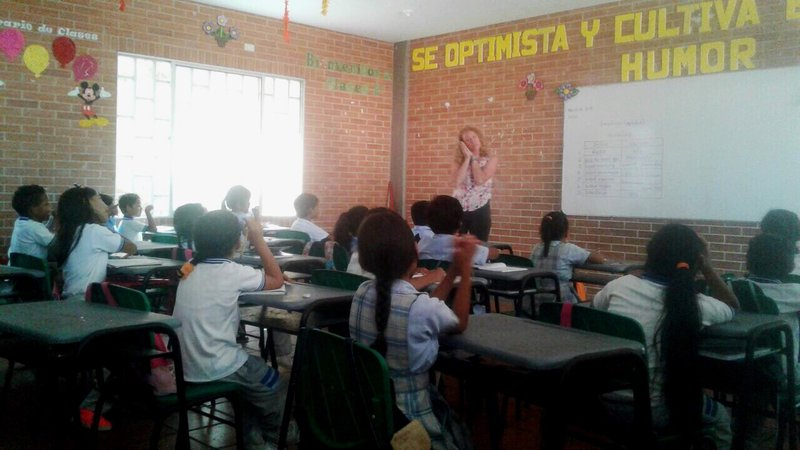 PCV Brianna with her English students