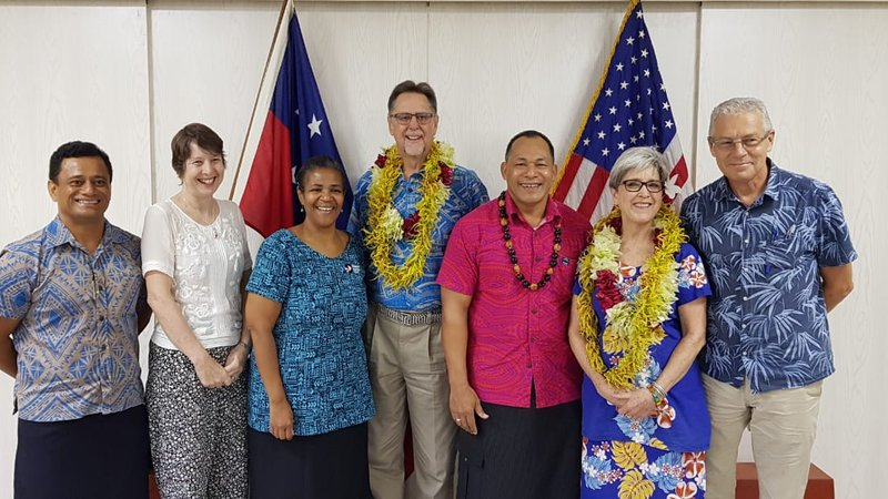 Swearing in as Peace Corps Response Volunteers in Samoa.