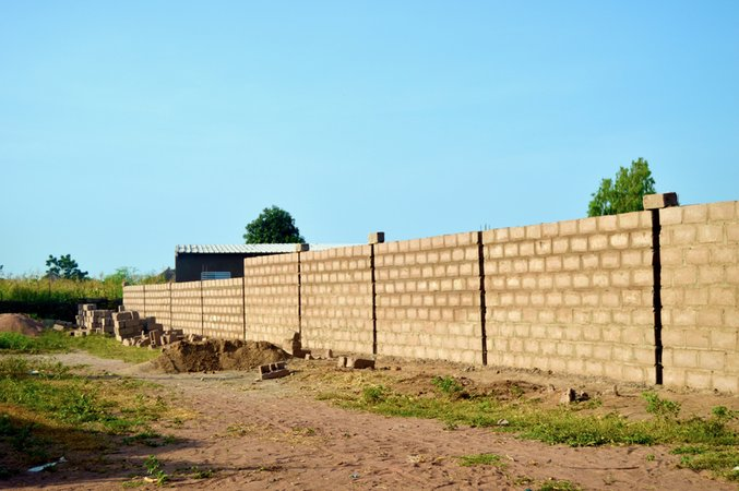 The wall before metal rebar supports  and the facade was added .jpg