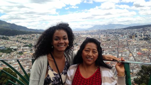 Tori Jackson: With my PST host mom overlooking the capital city of Quito, Ecuador