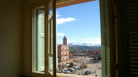 View from Amanda and JK's apartment during service in Morocco. Call to prayer from the nearby Mosque was part of the rhythm o