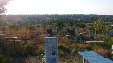 Cemetery in Moldova