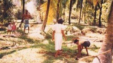 Villagers preparing their plot to plant Rambutan