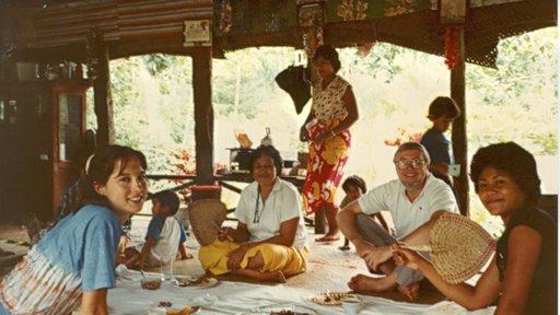 Carrie Hessler Radelet in her service in Western Samoa 1981-1983. She served as a Volunteer with her husband Steve.