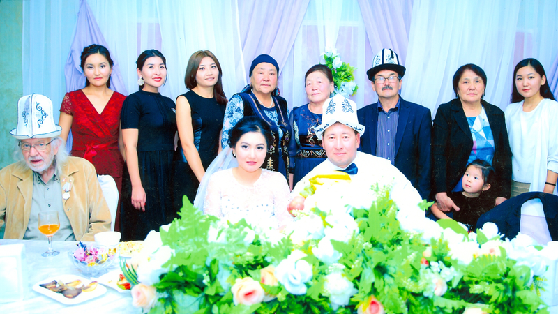 Warren Crain, Kyrgyz Republic, PCV 2013 – 2017, Honored Guest with his Student, Aitbubu's Wedding