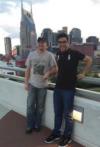 Reda Dihimine reunited with returned Volunteer Justin in Nashville.