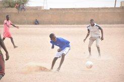 talibe playing soccer