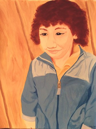 My friend Karla, Elena's aunt, asked me to paint her son.