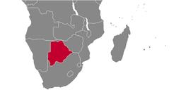 Botswana country map