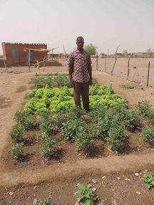 School director in the garden