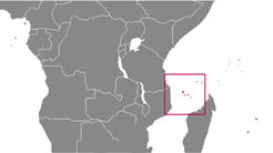 Comoros country map