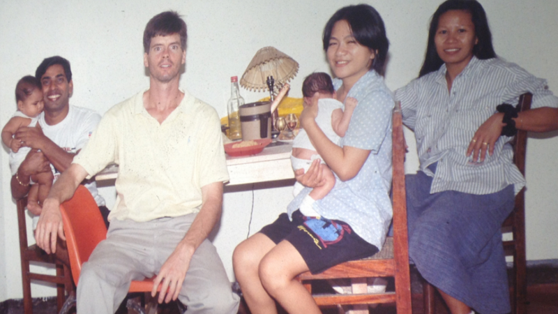 David and his wife and daughter