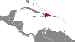 Dominican Republic country map