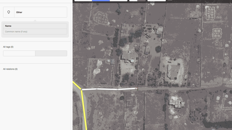 Adding a road to OpenStreetMap using the iD editor. (HOT OSM Github)