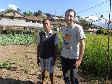 Elie with a model farmer