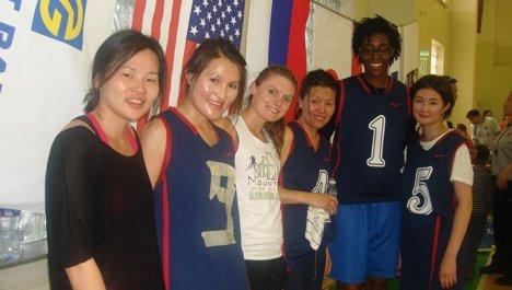Eva Riddick basketball team